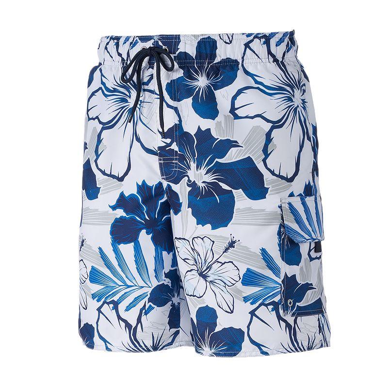 Men's Croft & Barrow® Maui Mirage Floral Microfiber Swim Trunks
