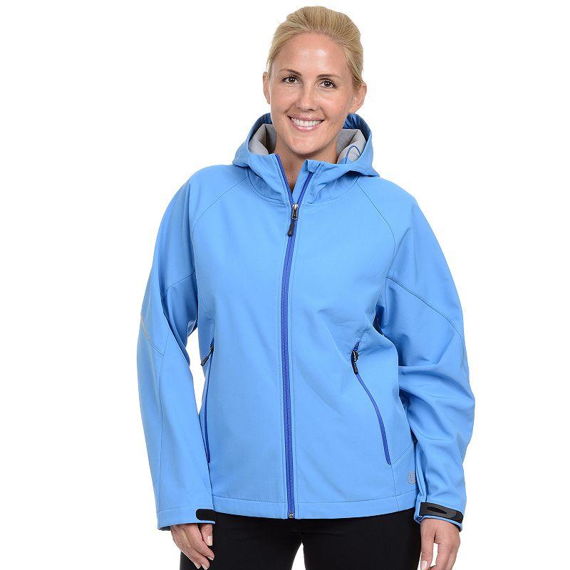 Plus Size Champion Hooded Soft Shell Jacket