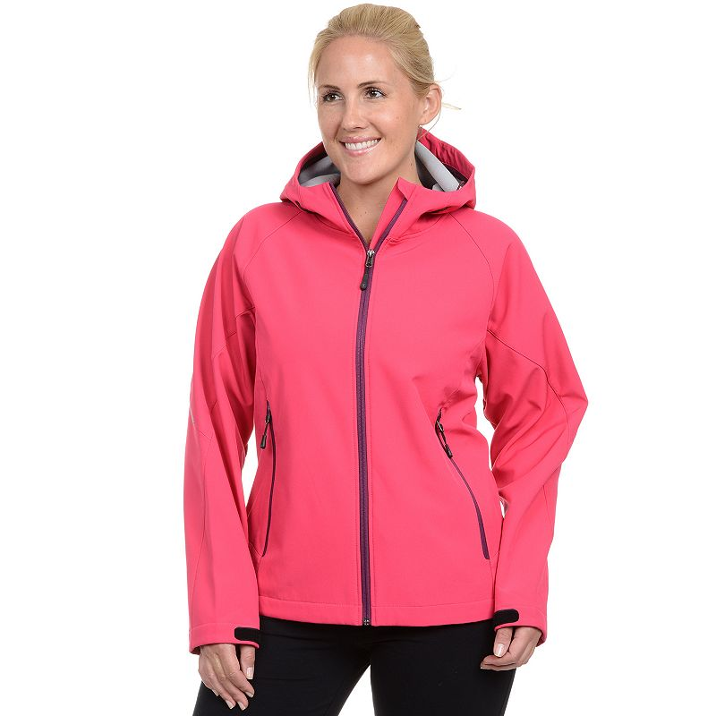 Plus Size Champion Hooded Soft Shell Jacket