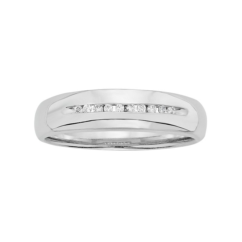 Men's 1/10 Carat T.W. Diamond Sterling Silver Band