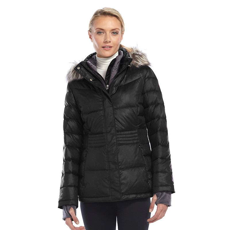 Women's Free Country Power Down Shiny Hooded Puffer Jacket