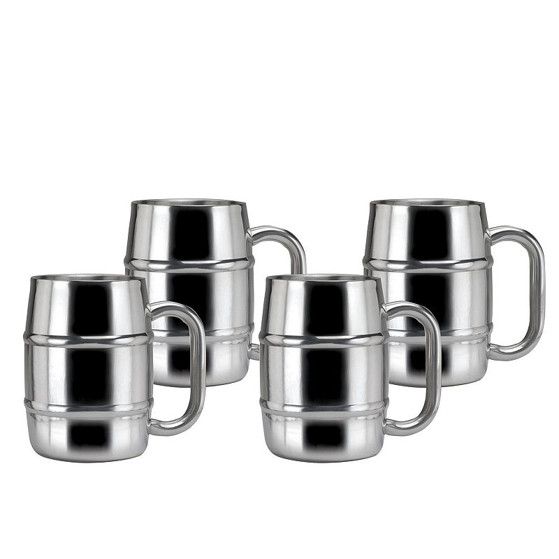 Old Dutch Keep Kool 4-pc. Double-Wall Stainless Steel Tankard Mug Set