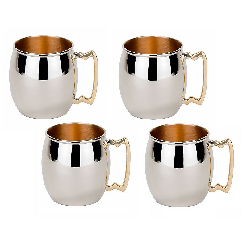 Old Dutch Straight 4-pc. Copper Moscow Mule Set