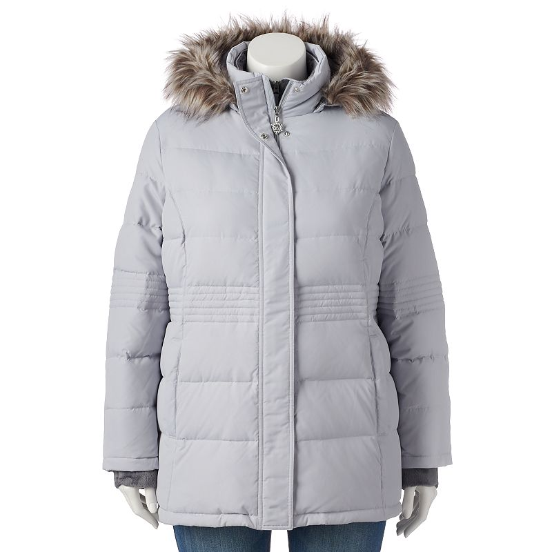 Plus Size Free Country Power Down Hooded Puffer Jacket