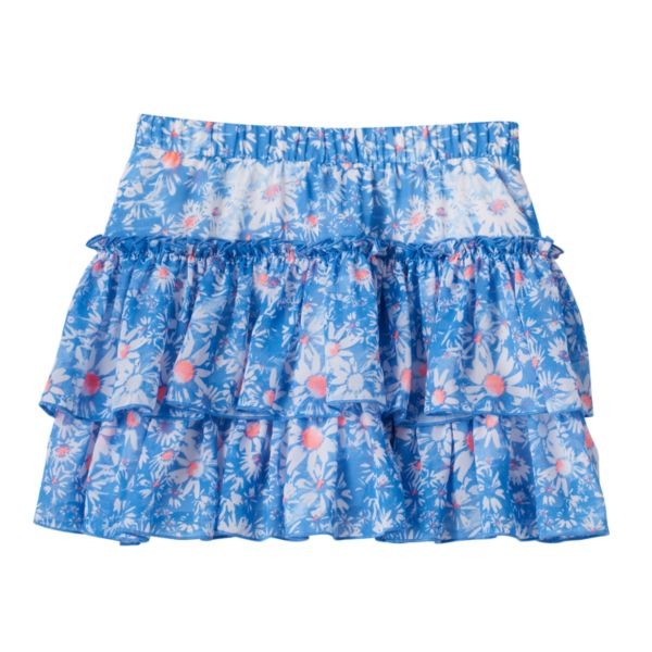 Girls 4-7 SONOMA Goods for Life™ Tiered Floral Skort