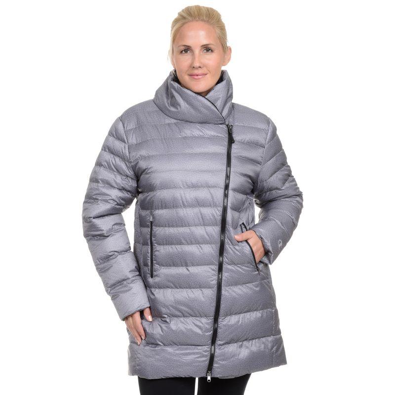 Plus Size Champion Asymmetrical Puffer Jacket, Women's, Size: 1XL, Grey