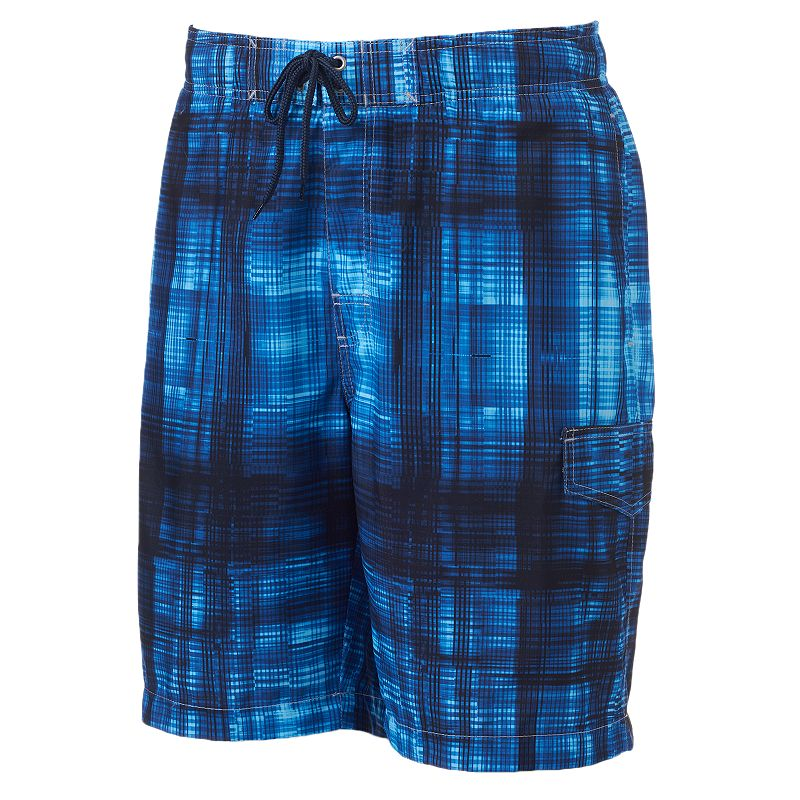 Men's SONOMA Goods for Life™ Breakaway Plaid Microfiber Swim Trunks