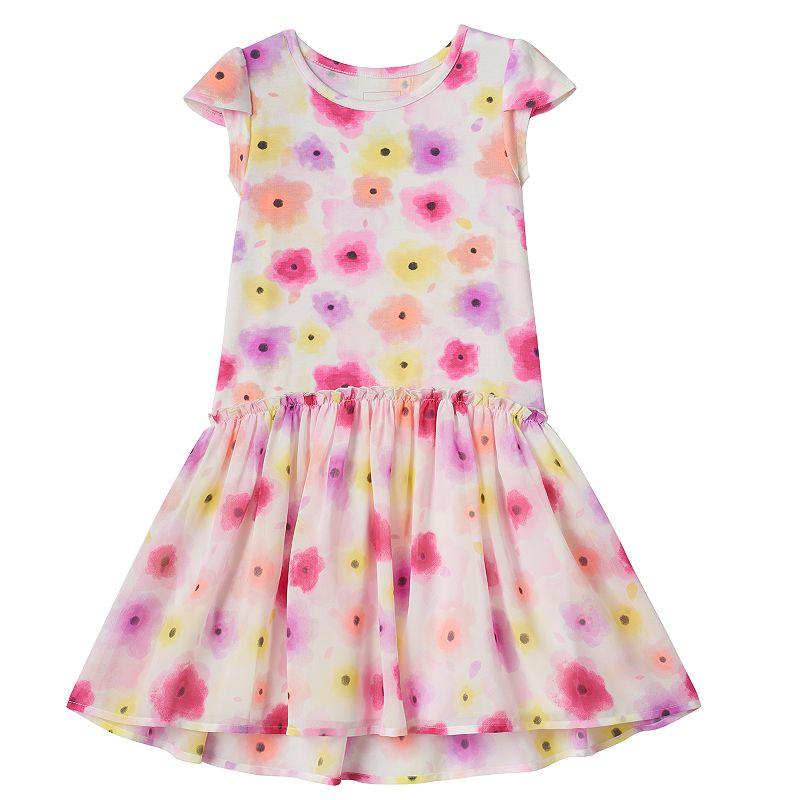 Girls 4-7 SONOMA Goods for Life™ Ruffled Drop-Waist Dress