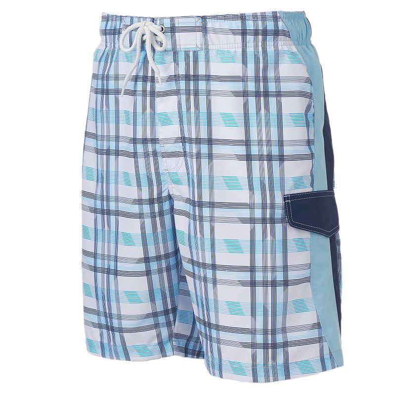 SONOMA Goods for Life™ Daybreak Plaid Microfiber Swim Trunks - Men