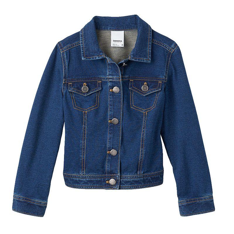 SONOMA Goods for Life™ Girls 4-7 Knit Denim Jacket