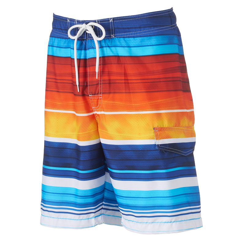 Men's SONOMA Goods for Life™ Striped Microfiber Swim Trunks