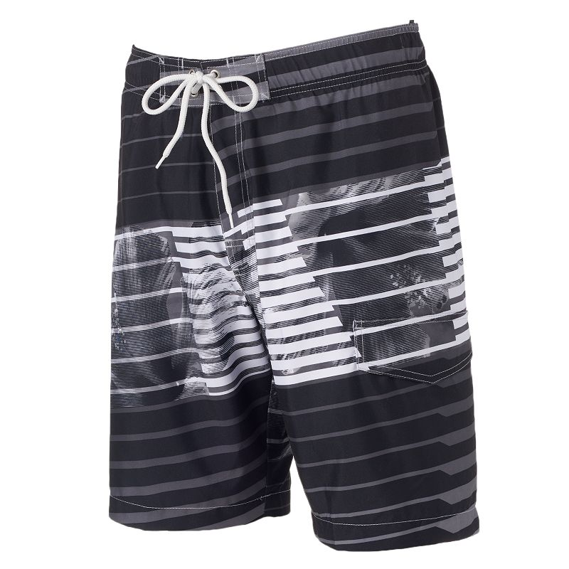 Men's SONOMA Goods for Life™ Striped Floral Microfiber Swim Trunks