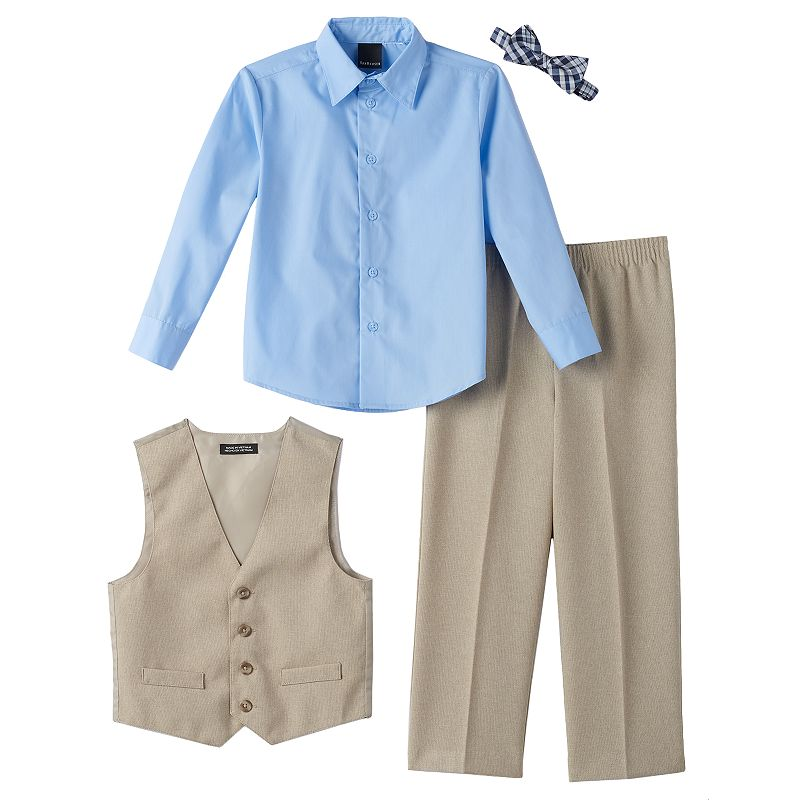 Boys 4-7 Van Heusen Solid Ticking Vest Set