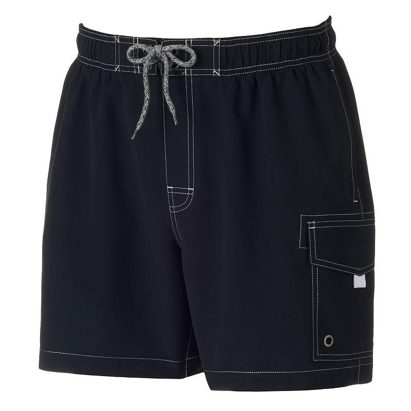 Men's SONOMA Goods for Life™ Solid Cargo Swim Shorts