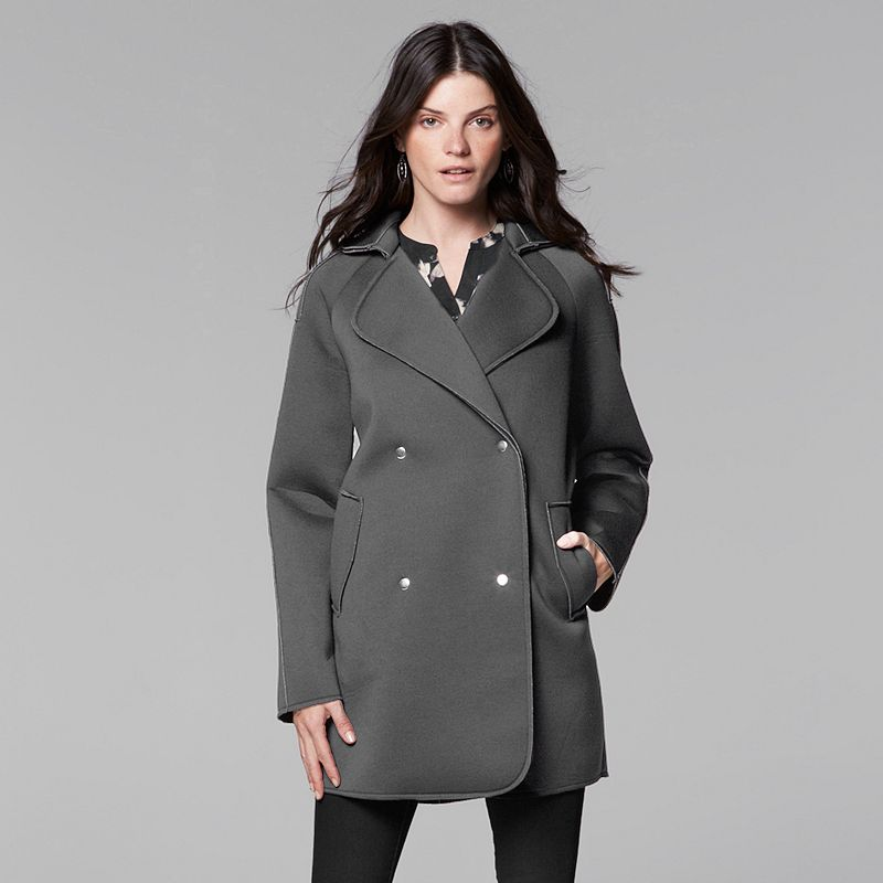 Women's Simply Vera Vera Wang Scuba Peacoat