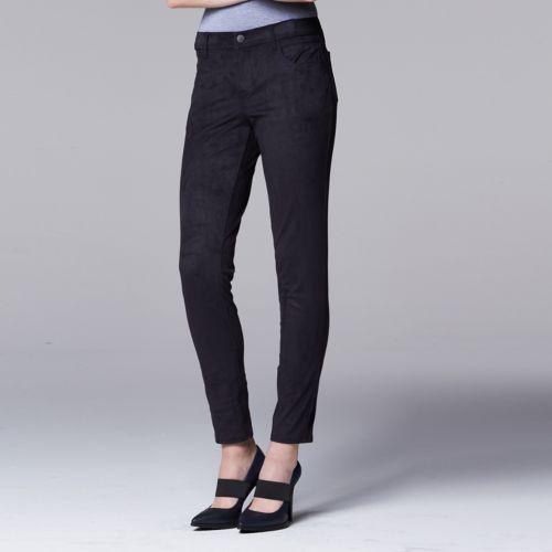 Women's Simply Vera Vera Wang Skinny Faux-Suede Pants
