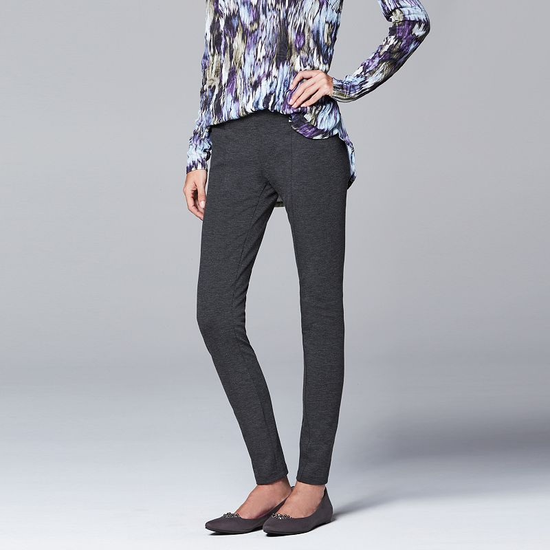 Simply Vera Vera Wang Skinny Ponte Pants - Women's & Petite