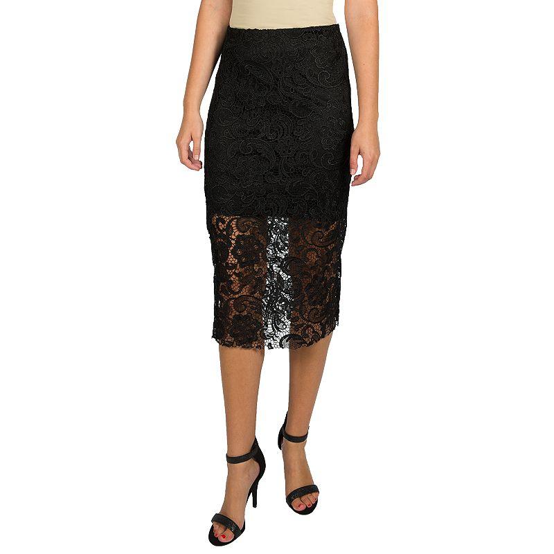 Harve Benard Lace Pencil Skirt - Women's
