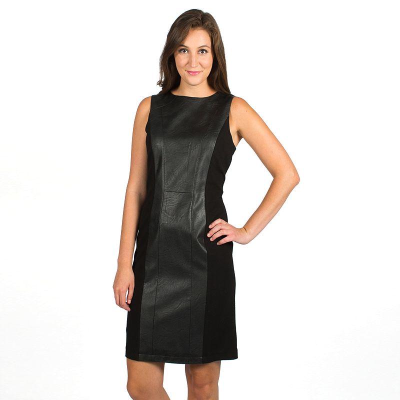 Harve Benard Mixed-Media Sheath Dress - Women's