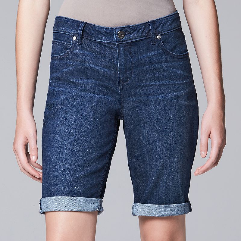 Simply Vera Vera Wang Whiskered Bermuda Jean Shorts - Women's