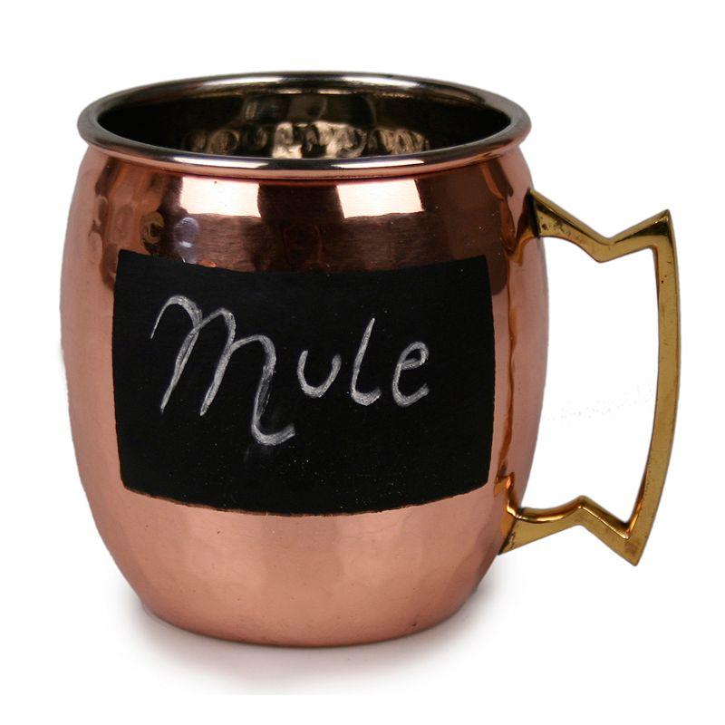 Jodhpuri 16-oz. Moscow Mule Hammered Chalkboard Mug
