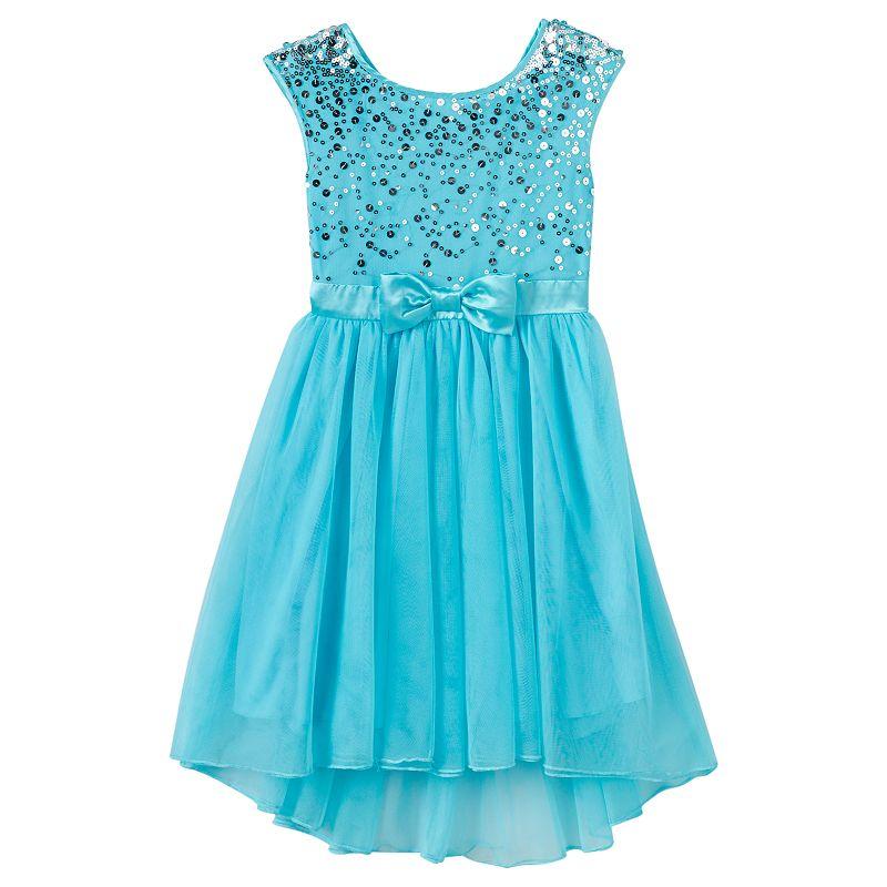 Girls 7-16 Speechless Sequined Tulle Dress
