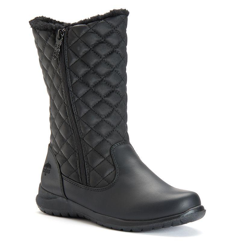 Totes Jade Women's Waterproof Double Zip Boots