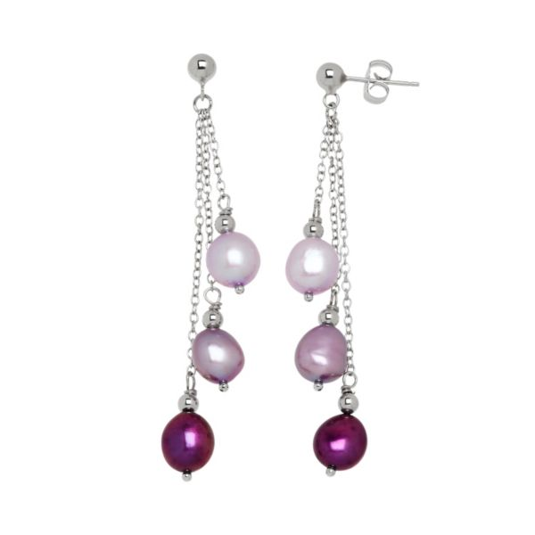 Freshwater by HONORA Dyed Freshwater Cultured Pearl Drop Earrings