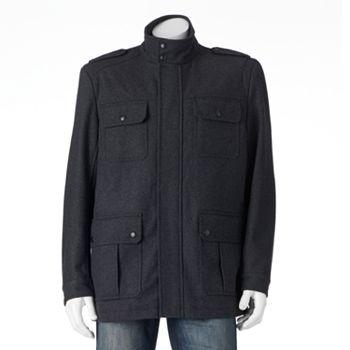Apt. 9 Herringbone Modern Mens Storm Coat