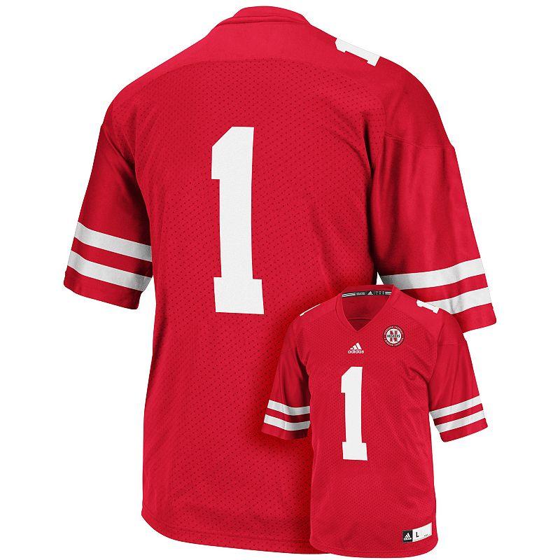 Men's adidas Nebraska Cornhuskers Premier Replica Football Jersey