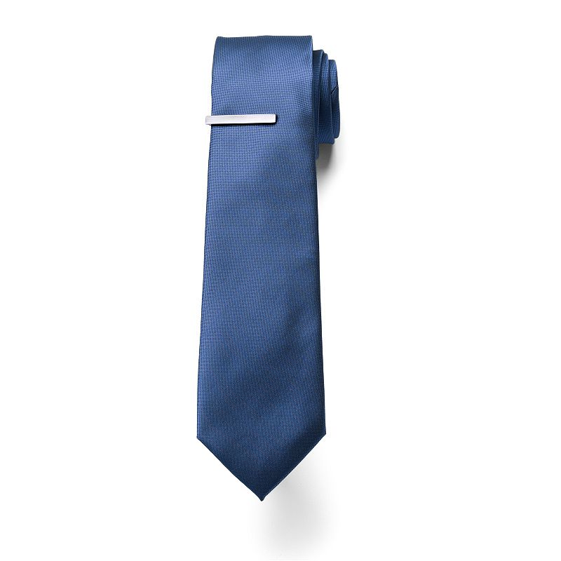 Apt. 9® Bass Solid Skinny Tie & Tie Bar - Men