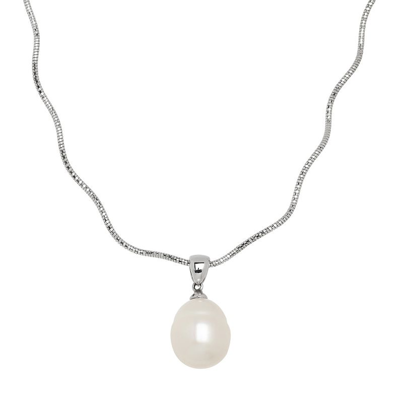 Freshwater by HONORA Sterling Silver Freshwater Cultured Pearl Pendant