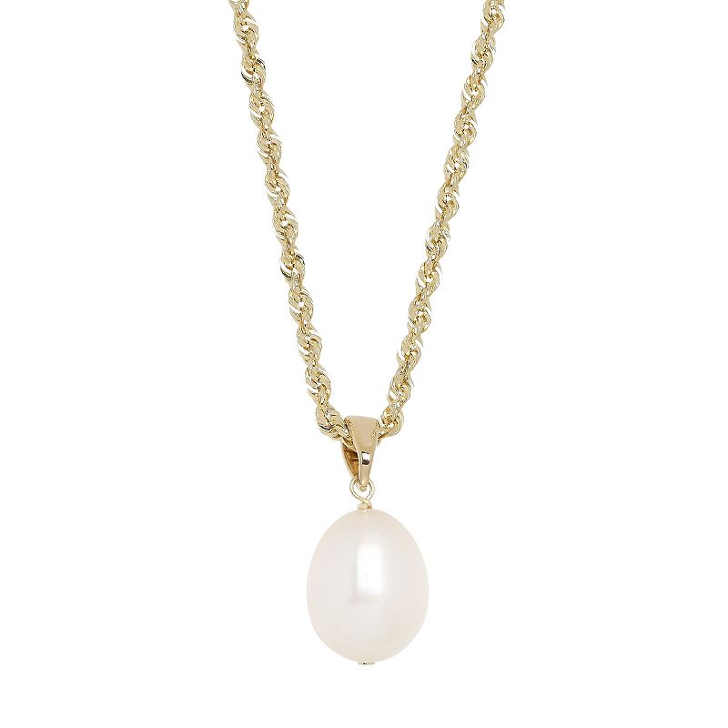 Freshwater by HONORA 10k Gold Freshwater Cultured Pearl Pendant