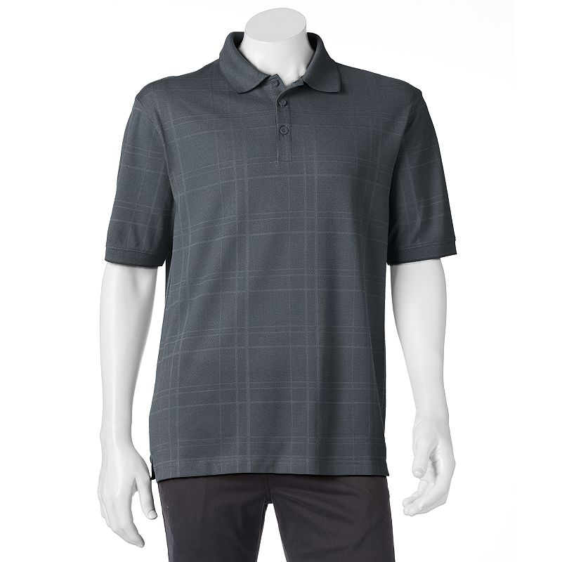 Men's Haggar Classic-Fit Textured Grid Polo