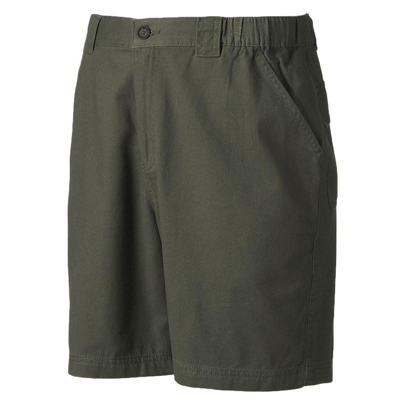 Men's Croft & Barrow® Side Elastic Twill Shorts