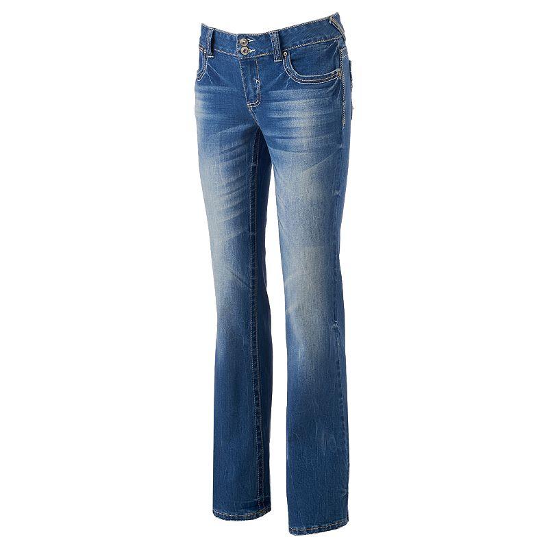 Juniors' Amethyst Midrise Bootcut Jeans