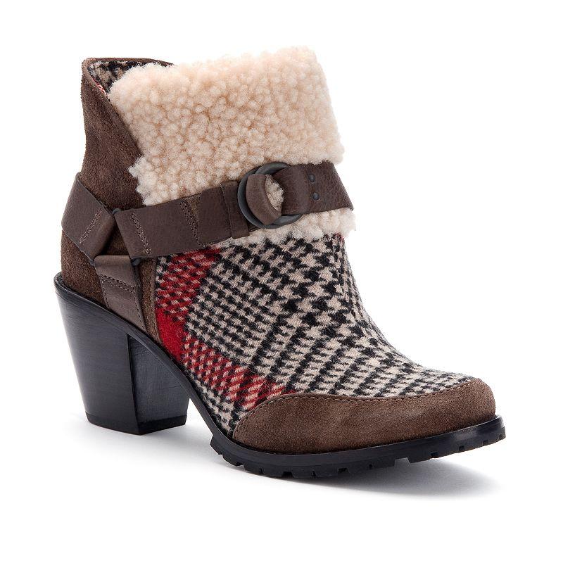 Woolrich Miss Alice Women's Western Heeled Ankle Boots