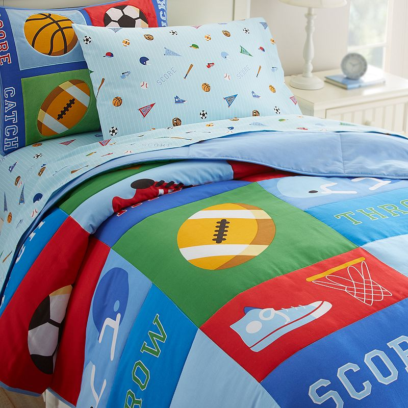 Wildkin Olive Kids Game On Comforter Set