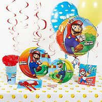 Super Mario Bros. Party Supplies for 16
