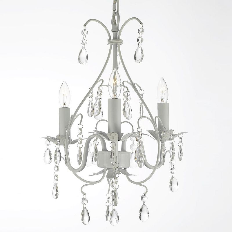 Gallery Versailles Wrought Iron and Crystal Swag Chandelier