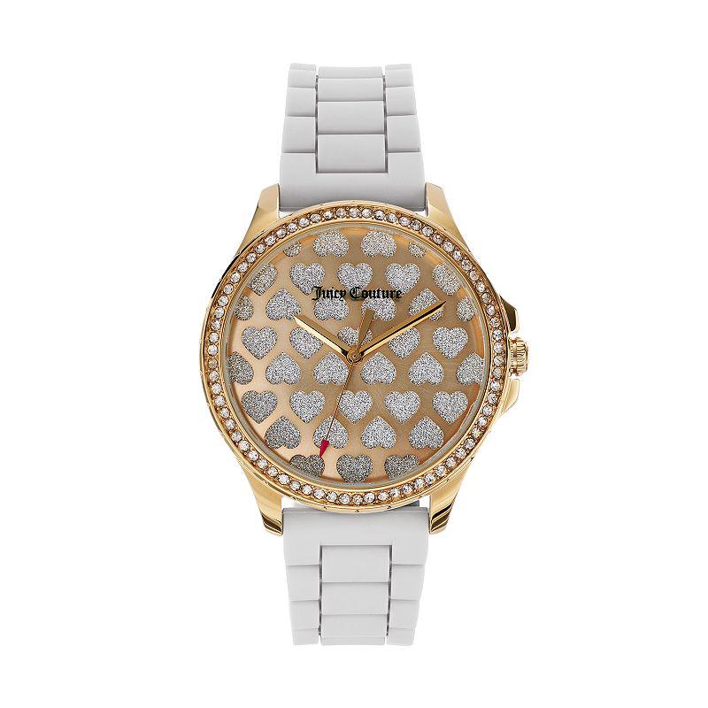Juicy Couture Women's Gwen Crystal Heart Watch