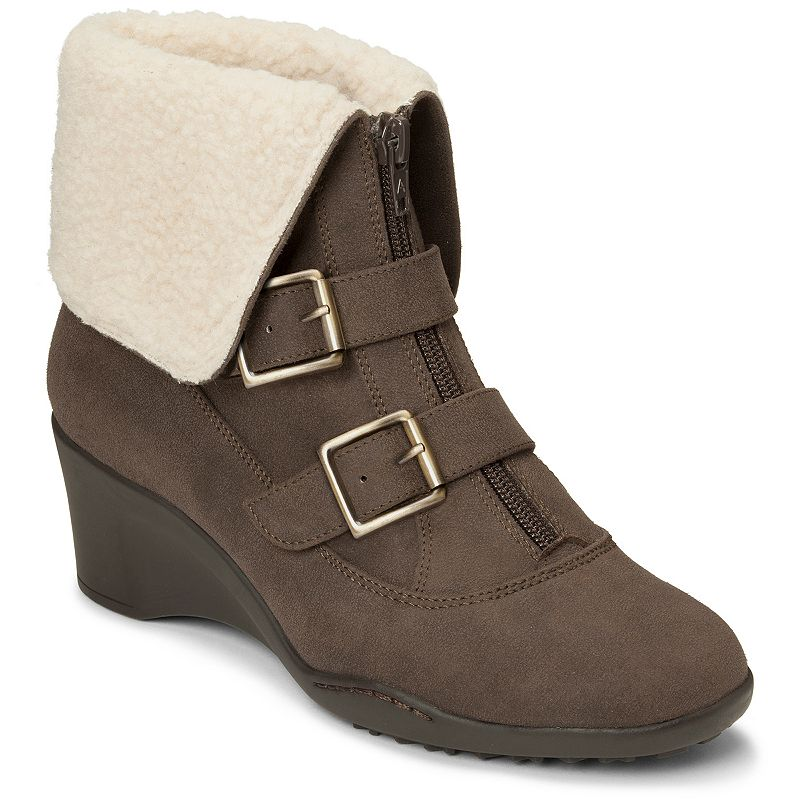 A2 by Aerosoles Music Women's Fleece-Lined Cuffed Ankle Boots