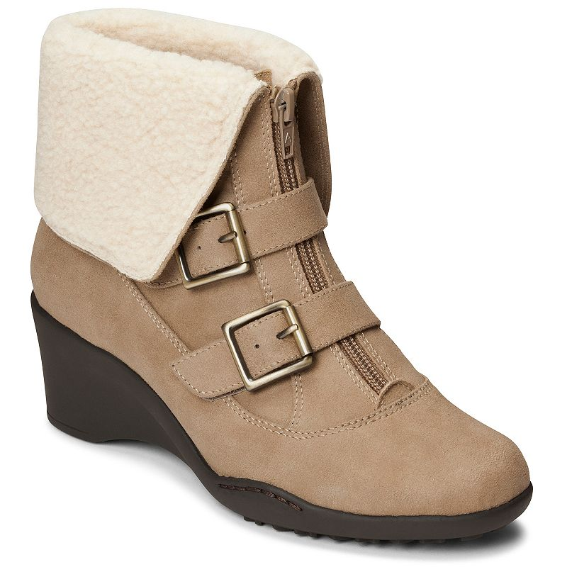 A2 by Aerosoles Music Women's Fleece-Lined Cuffed Ankle Boots