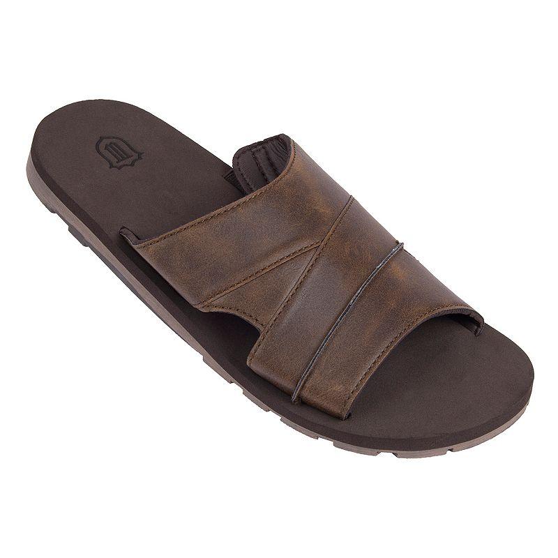 Men's Wembley Brown Slide Sandals