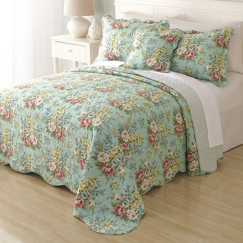 Home Classics® Clair Country Floral Reversible Bedspread
