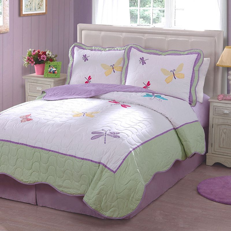 Dragonfly Butterfly Quilt Set