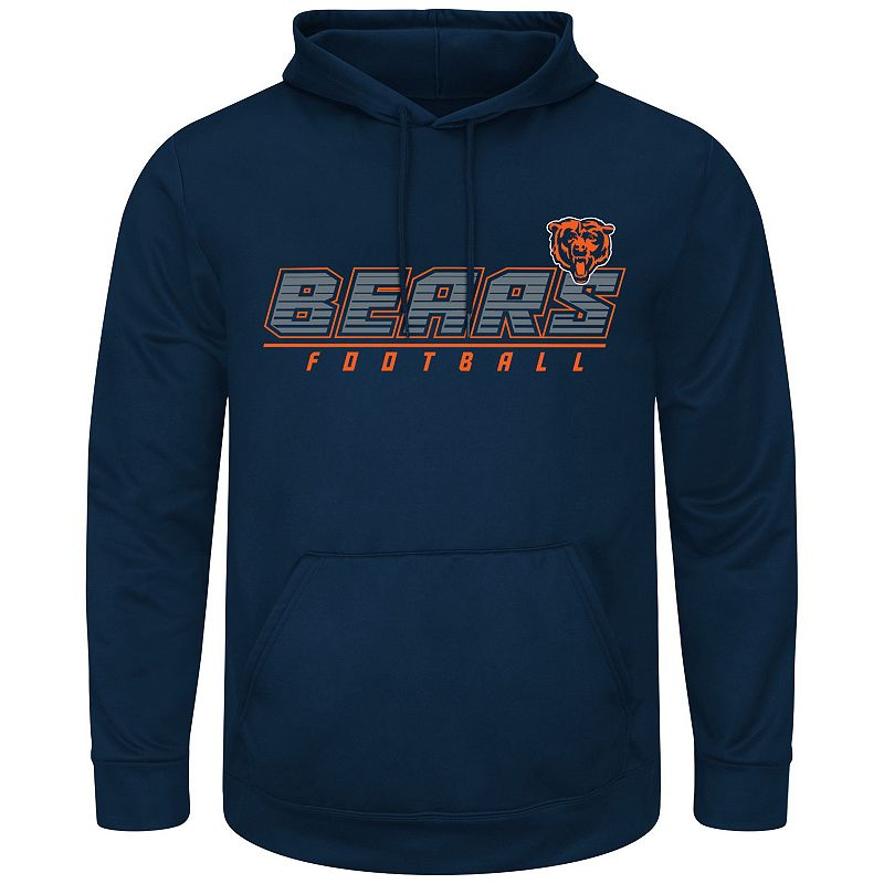 Big & Tall Majestic Chicago Bears Punt Return Synthetic Fleece Hoodie