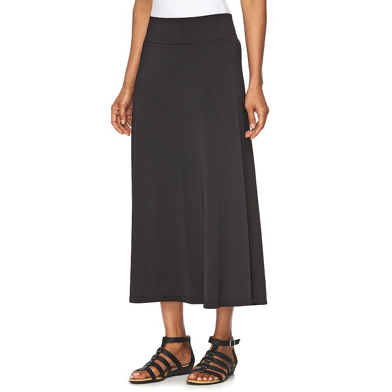 Women's Dana Buchman Black Maxi Skirt