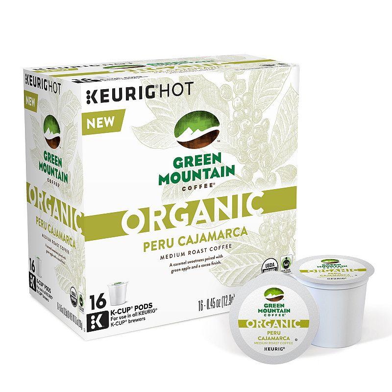 Keurig® K-Cup® Pod Organic Green Mountain Coffee Organic Peru Cajamarca Medium Roast Coffee - 16-pk.