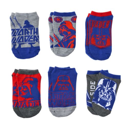 Boys 8-20 Star Wars 6-Pack Darth Vader Ankle Socks